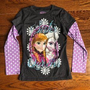 Girls Long Sleeve Frozen Shirt